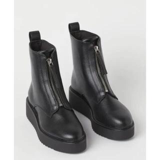 H&M フロントジップブーツ オンライン限定商品 37サイズ