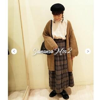 SM2 - サマンサモスモスSM2 綿麻チェックキルトスカート カーキ