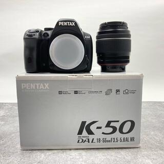 ペンタックス(PENTAX)の【美品】PENTAX K-50 DAL18-55mm WRレンズキット(デジタル一眼)