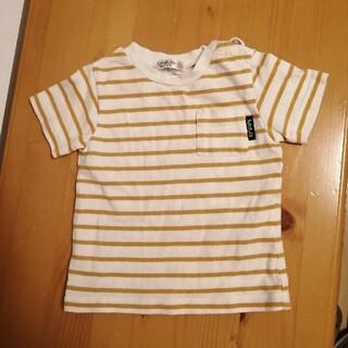 フタフタ(futafuta)のフタフタ黄ボーダーTシャツ(Tシャツ/カットソー)