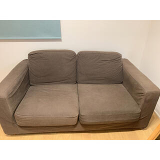 ムジルシリョウヒン(MUJI (無印良品))の無印良品 ソファ ブラウン 2シーター(二人掛けソファ)