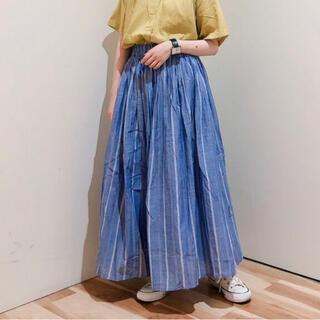 サマンサモスモス(SM2)のSM2*blue  ストライプスカート(ロングスカート)