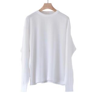 コモリ(COMOLI)のCOMOLI 未使用 ワッフル長袖クルーネック ホワイト コモリ カットソー(Tシャツ/カットソー(七分/長袖))