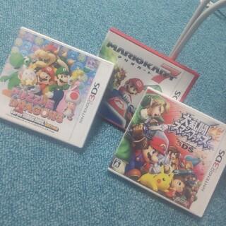 ニンテンドー3DS(ニンテンドー3DS)のマリオ。3枚セット☆任天堂3DS(携帯用ゲームソフト)