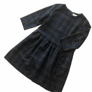 フランシュリッペ(franche lippee)のフランシュリッペ  ウール混 長袖ワンピース チェック FL5(ひざ丈ワンピース)