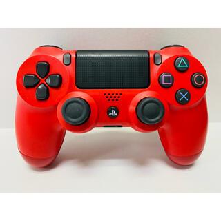 プレイステーション4(PlayStation4)のPS4 純正ワイヤレスコントローラー デュアルショック4 レッド(その他)