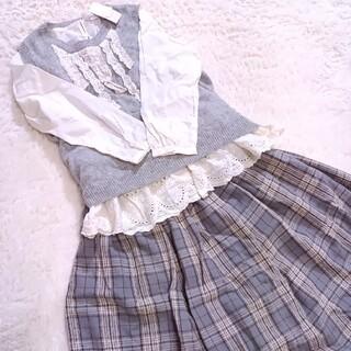 サマンサモスモス(SM2)のSM2 ニットベスト・ブラウス・スカートセット(ロングスカート)