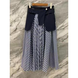 サカイ(sacai)のSACAI サカイ Cotton Poplin Skirt スカート ロング(ロングスカート)