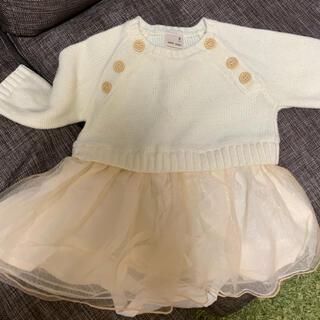 petit main - petit main 赤ちゃんオシャレ着 70cm ニット ロンパース スカート