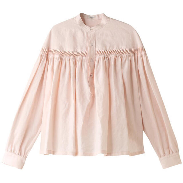 Scye(サイ)のサイ 定番ピンタックブラウス scye ピンク 長袖 36 レディースのトップス(シャツ/ブラウス(長袖/七分))の商品写真