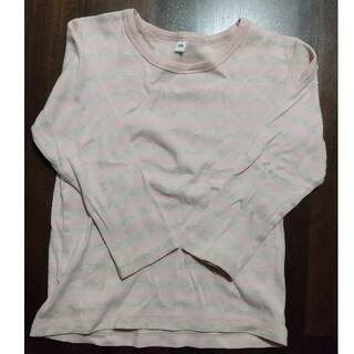 ムジルシリョウヒン(MUJI (無印良品))の無印良品 長袖ボーダーTシャツ 100cm(Tシャツ/カットソー)