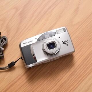 フジフイルム(富士フイルム)の電池付 Fujifilm silvi70 フィルムカメラ 富士フイルム(フィルムカメラ)
