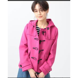 【美品】RayBEAMS(レイビームス)メルトンショートダッフルコート ピンク