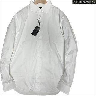 エンポリオアルマーニ(Emporio Armani)のJ3005 新品 エンポリオアルマーニ SLIM FIT ドレスシャツ 白 43(シャツ)