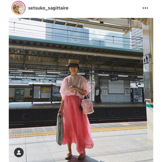 ドゥロワー(Drawer)の2020SS BLAMINK silk skirt 定価13万円(ロングスカート)