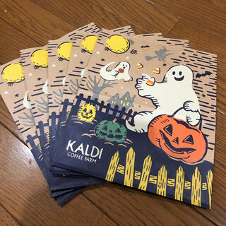 カルディ(KALDI)のカルディ ハロウィン 紙袋5枚セット(ショップ袋)