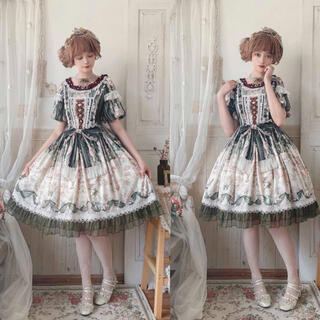 アンジェリックプリティー(Angelic Pretty)のうさぎの茶会 Alice Tea's Party ワンピースセット(ひざ丈ワンピース)