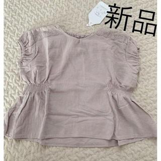フタフタ(futafuta)のmamaraku ブラウス 新品未使用 95 レース ノースリーブ トップス(Tシャツ/カットソー)