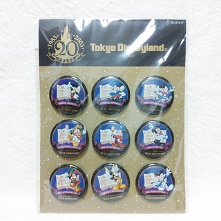 Disney - 東京ディズニーランド・20周年カンバッジセット