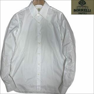ルイジボレッリ(LUIGI BORRELLI)のJ3105 美品 ルイジボレッリ ボタンダウン ドレスシャツ 白 16/41(シャツ)