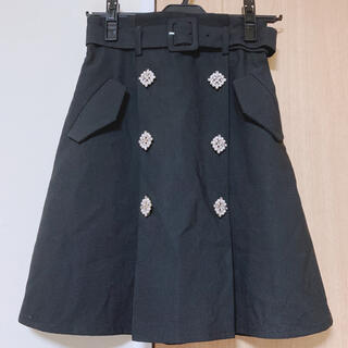 evelyn - An MILLE トレンチ風スカート ブラック