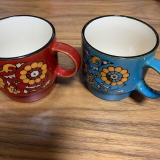 昭和レトロポップ花柄コーヒーカップセット(希少)