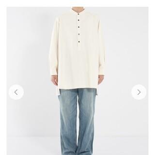 nest Robe  コットンバンドカラープルオーバーシャツ