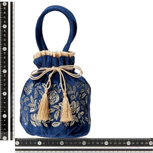 Francfranc(フランフラン)の【新品未使用】Francfranc ANNA SUI 巾着バッグ レディースのバッグ(かごバッグ/ストローバッグ)の商品写真
