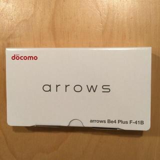 フジツウ(富士通)の新品未使用 arrows  be4 plus Fー41B ホワイト(スマートフォン本体)