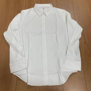 UNIQLO - 【美品】UNIQLO ユニクロ シャツ ブラウス 長袖 白シャツ
