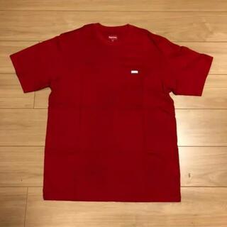 Supreme - Supreme small box logo 赤Tシャツ Mサイズ