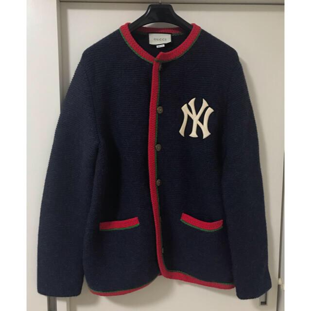 Gucci(グッチ)の定価約25万 サイズS グッチ x NY ヤンキース カーディガン 本物美品 メンズのトップス(カーディガン)の商品写真