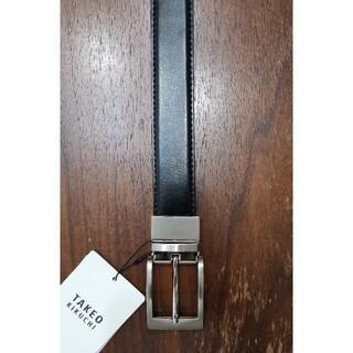 タケオキクチ(TAKEO KIKUCHI)のタケオキクチ 新品 メンズ リバーシブル レザーベルト(型押ブラック/ブラック)(ベルト)
