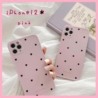 【新品未使用♡】iPhone12ケース ピンク ハート 量産型 かわいい 韓国