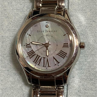 スタージュエリー(STAR JEWELRY)のスタージュエリー 電波ソーラー RADIO STAR 時計 WHITE MOON(腕時計)