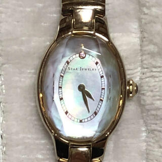 スタージュエリー(STAR JEWELRY)のstar jewelry スタージュエリー 腕時計 ソーラー ピンクトルマリン(腕時計)