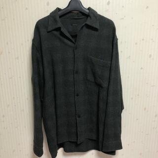 COMOLI - COMOLI/コモリ ウールチェックオープンカラーシャツ