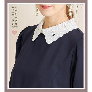 tocco - フラワーカットワーク刺繍襟付きパフスリーブワンピース♡スナイデル、セルフォード