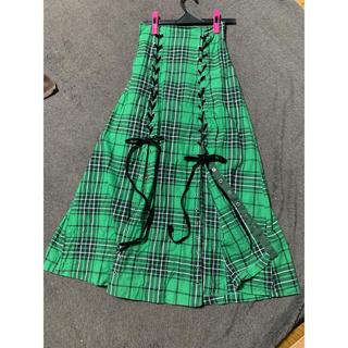 snidel - snidelグリーンチェックロングスカート