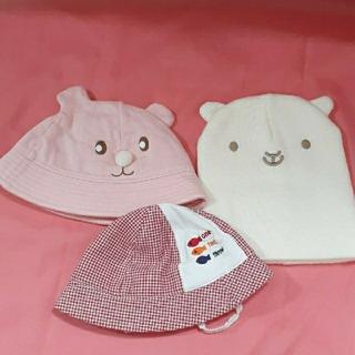 ミキハウス(mikihouse)のベビー帽子 3点まとめ売り セット ミキハウス他(帽子)