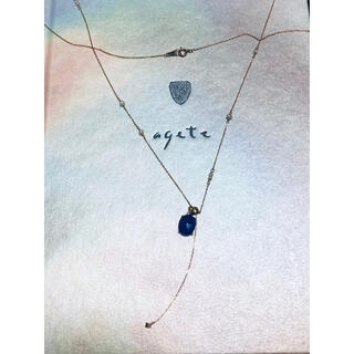 agete - 【試着のみ】アガット パールY字ネックレス チャーム付 K10 agete