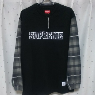 Supreme - Supreme Plaid Sleeve L/S Top  ブラック M