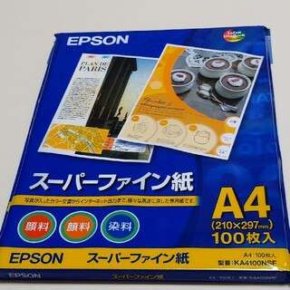 エプソン(EPSON)の(新品/未開封)EPSON  スーパーファイン紙 A4 100枚入り(オフィス用品一般)