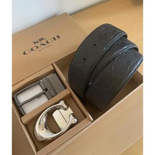 COACH - 正規品COACHコーチ3点セットシグネチャーフリーサイズリバーシブルベルト専用箱