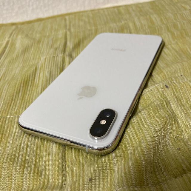 Apple(アップル)の【美品】SIMフリーiPhone XS シルバー バッテリー80% 256GB  スマホ/家電/カメラのスマートフォン/携帯電話(スマートフォン本体)の商品写真