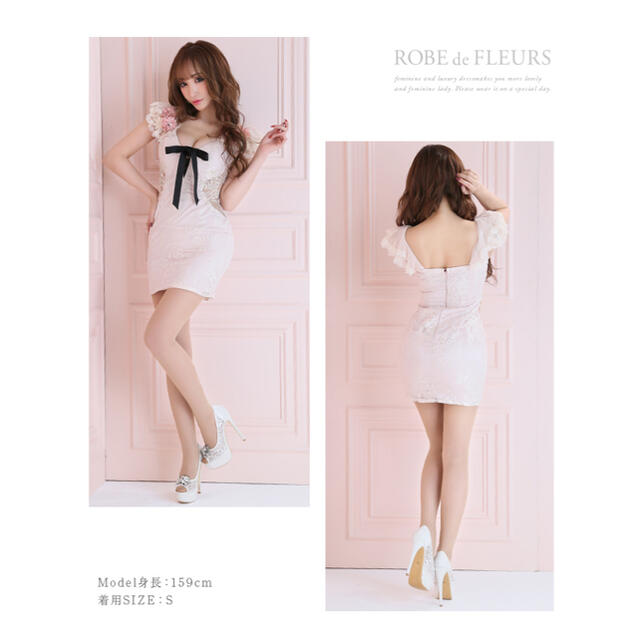 ROBE(ローブ)のROBE de FLEURS ローブドフルール ドレス キャバドレス ミニドレス レディースのフォーマル/ドレス(ナイトドレス)の商品写真