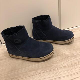SOREL - SORELソレルグレイシーショートブーツネイビー紺色23cmウォータープルーフ