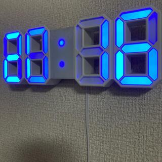 3D立体時計 ブルー