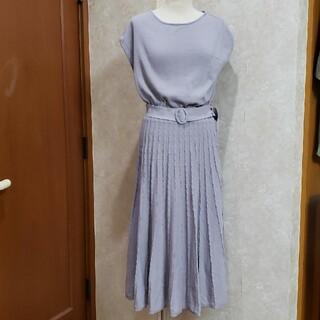 クチュールブローチ(Couture Brooch)の❤Couture brooch❤フレンチスリーブニットロングワンピース/裏地付き(ロングワンピース/マキシワンピース)