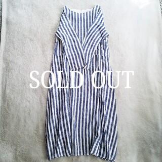フェリシモ(FELISSIMO)の[SUNNY CLOUDS] linen stripe one-piece(ロングワンピース/マキシワンピース)